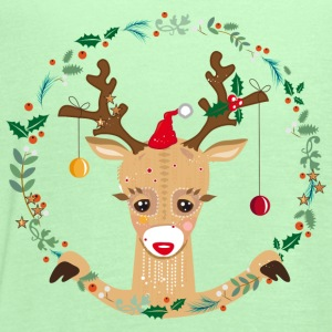 A reindeer in the Christmas time Baby & Toddler Shirts - Women's Flowy Tank Top by Bella