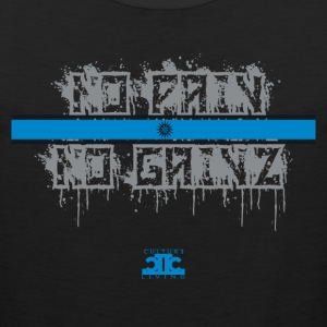 No Pain No Gainz Blue - Men's Premium Tank