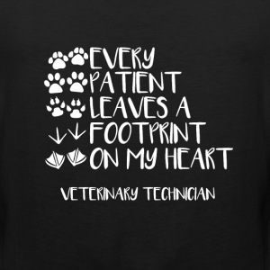 Every Patient Has Left an Imprint Vet Tech T-shirt T-Shirts - Men's Premium Tank