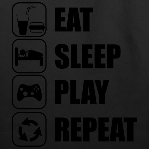 Eat,sleep,play,repeat Geek Gamer - Eco-Friendly Cotton Tote