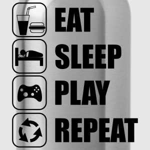Eat,sleep,play,repeat Geek Gamer - Water Bottle
