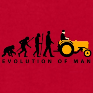 evolution_of_farmer_with_tractor_09_2016 Mugs & Drinkware - Men's T-Shirt by American Apparel
