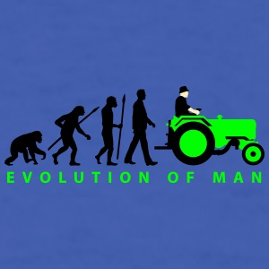evolution_of_farmer_with_tractor_09_2016 Mugs & Drinkware - Men's T-Shirt