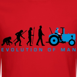 evolution_of_man_farmer_with_tractor_c_3 Kids' Shirts - Crewneck Sweatshirt