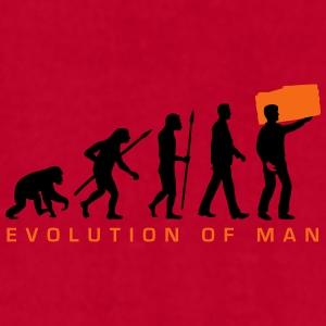 evolution_of_man_furniture_mover_c_2c Mugs & Drinkware - Men's T-Shirt by American Apparel