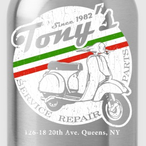 Tony's Scooter Repair (vintage look) - Water Bottle