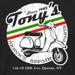 Tony's Scooter Repair (vintage look) - Men's Premium Long Sleeve T-Shirt