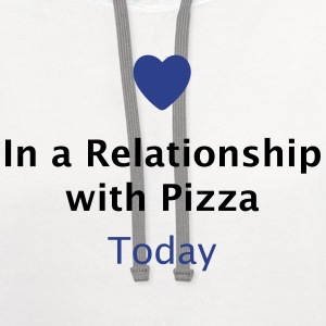 In a Relationship with Pizza T-Shirts - Contrast Hoodie