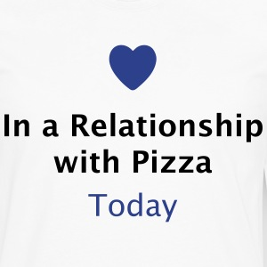In a Relationship with Pizza T-Shirts - Men's Premium Long Sleeve T-Shirt
