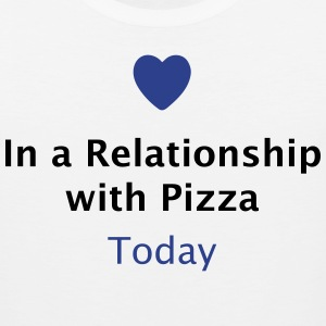 In a Relationship with Pizza T-Shirts - Men's Premium Tank