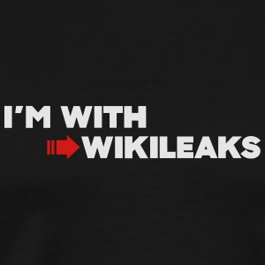 I'm with WikiLeaks Tanks - Men's Premium T-Shirt