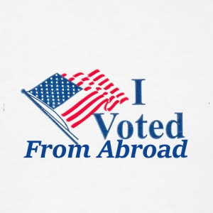 I voted from abroad Buttons - Men's T-Shirt