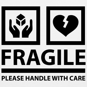 FRAGILE - Please Handle With Care (Sign) Hoodies - Men's Premium Tank