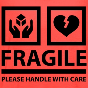 FRAGILE - Please Handle With Care (Sign) T-Shirts - Women's Flowy Tank Top by Bella