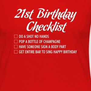 21st Birthday Checklist Shot Happy Birthday Tshirt T-Shirts - Women's Premium Long Sleeve T-Shirt