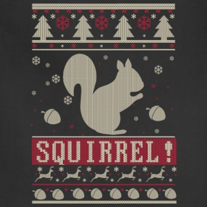 Squirrel Ugly Christmas Long Sleeve Shirts - Adjustable Apron