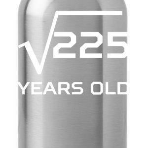 Square Root 225 Funny 15 Years Old 15th Birthday - Water Bottle