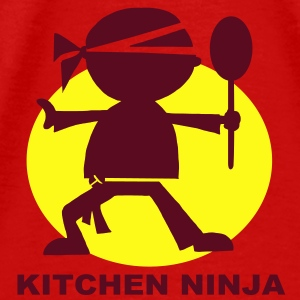Kitchen Ninja BBQ Apron - Men's Premium T-Shirt
