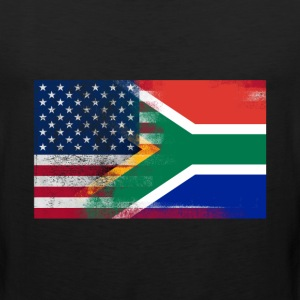 South African American Half South Africa Half Flag - Men's Premium Tank