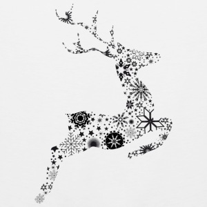 Reindeer ice crystals and snow stars T-Shirts - Men's Premium Tank