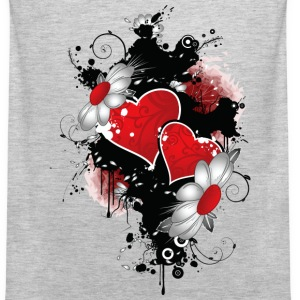 flowers and heart - Men's Premium Tank