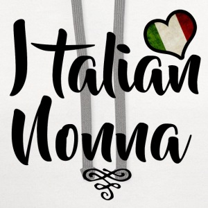 italian nonna 1.png T-Shirts - Contrast Hoodie