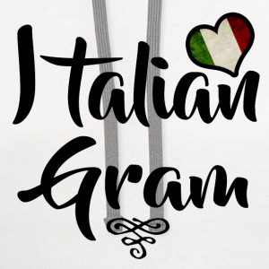 italian gram 1.png T-Shirts - Contrast Hoodie