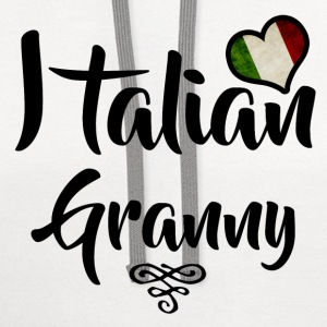 italian granny 1.png T-Shirts - Contrast Hoodie