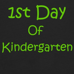 First Day Of Kindergarten (green)  - Men's Premium Long Sleeve T-Shirt