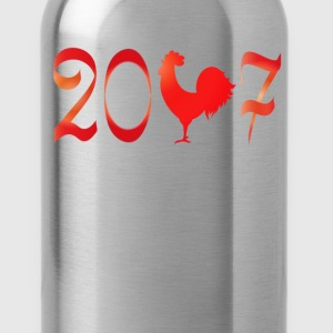 2017 the year of the Rooster New Year T-Shirt T-Shirts - Water Bottle