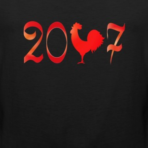 2017 the year of the Rooster New Year T-Shirt T-Shirts - Men's Premium Tank