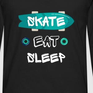 Skate. Eat. Sleep - Men's Premium Long Sleeve T-Shirt