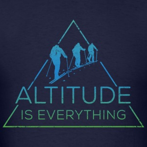 Altitude is everything + Sleeve Snow Addict - Men's T-Shirt