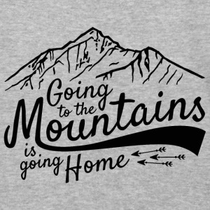 Going to the Mountains + Sleeve Snow Addict - Baseball T-Shirt