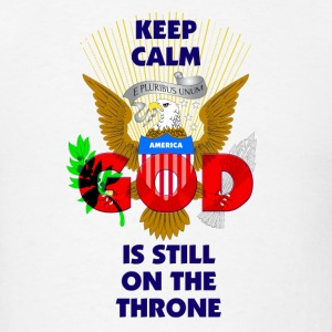 Keep-Calm-America-GOD-Is-Still-On-The-Throne-Red Sportswear - Men's T-Shirt