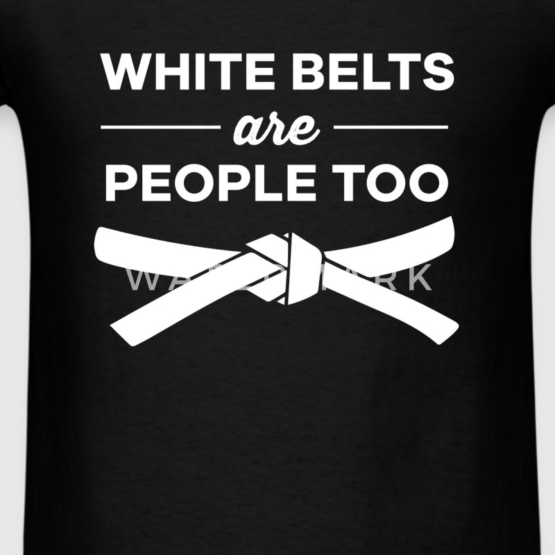 White belts are people too - Men's T-Shirt