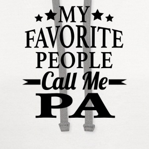 My Favorite People Call Me Pa - Contrast Hoodie