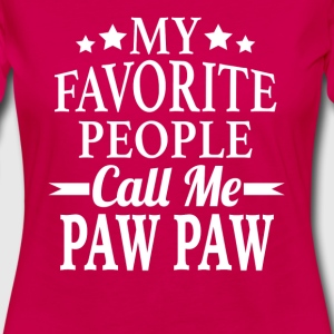 My Favorite People Call Me Paw Paw - Women's Premium Long Sleeve T-Shirt