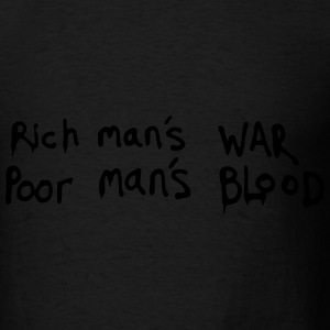 Famous Sentence Rich and Poor - Men's T-Shirt