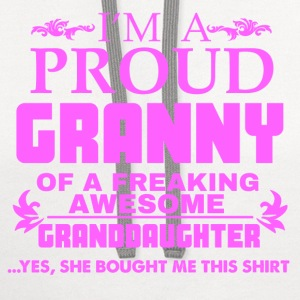 I AM PROUD GRANNY T-Shirts - Contrast Hoodie