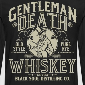 Gentleman Death Whiskey T-Shirts - Men's Premium Long Sleeve T-Shirt