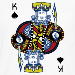 King Spade Playing Card - Men's Premium Long Sleeve T-Shirt