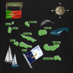 ACORES MAP FINAL FINAL WITH WOOD BOARD 111116a.png Hoodies - Men's Premium T-Shirt