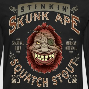 Stinkin' Skunk Ape Squatch Stout - Men's Premium Long Sleeve T-Shirt