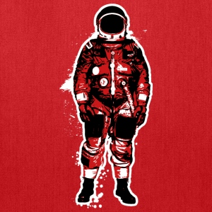 Astronaut Grunge Red - Tote Bag