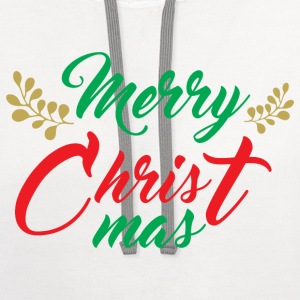 Merry Christmas T-Shirts - Contrast Hoodie
