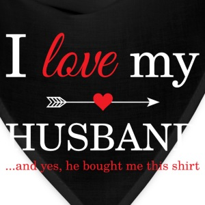 I Love My Husband T-Shirts - Bandana