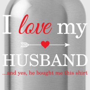 I Love My Husband T-Shirts - Water Bottle