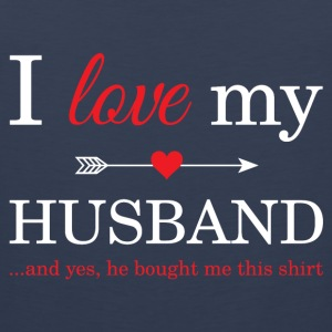 I Love My Husband T-Shirts - Men's Premium Tank
