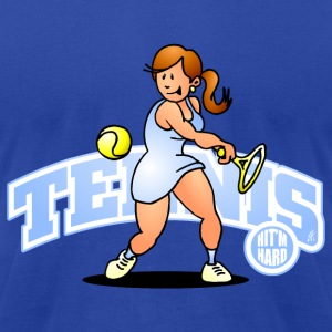 Tennis, Hit'm hard Hoodies - Men's T-Shirt by American Apparel